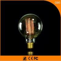 50 шт. Винтаж Дизайн Эдисон накаливания E27 B22 Светодиодные лампы, g95 40 Вт энергосберегающих украшение лампы заменить лампы накаливания AC220V