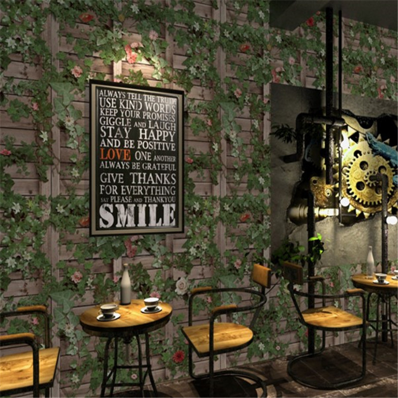 Beibehang american village plant wallpaper simulation - Living room cafe menu philadelphia ...