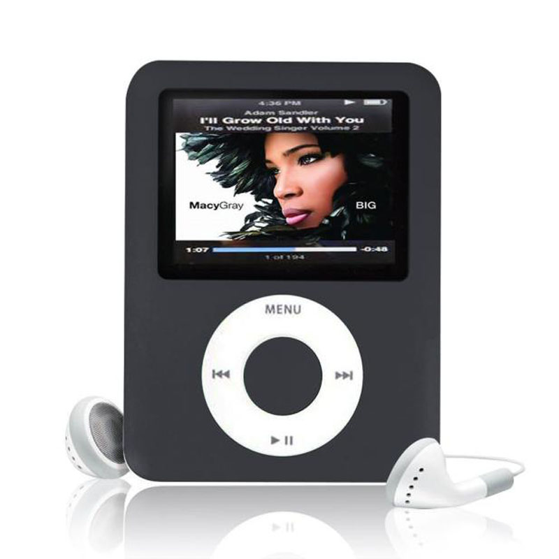 High Quality MP4 With Earphones 1.8inch Screen LCD Media Video Game Movie FM Radio 3th Generation MP4 Music Player