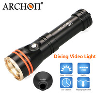 ARCHON waterproof 100m led dive light led underwater dive lights Photography Video Underwater Torch diving photo video light
