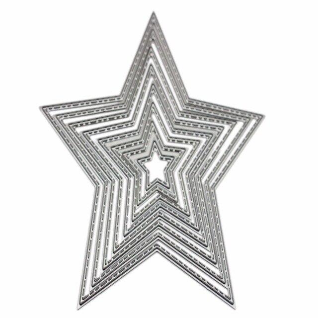 8pcs Embossing Metal Steel Cutting Dies Stencils Stars DIY - stars template