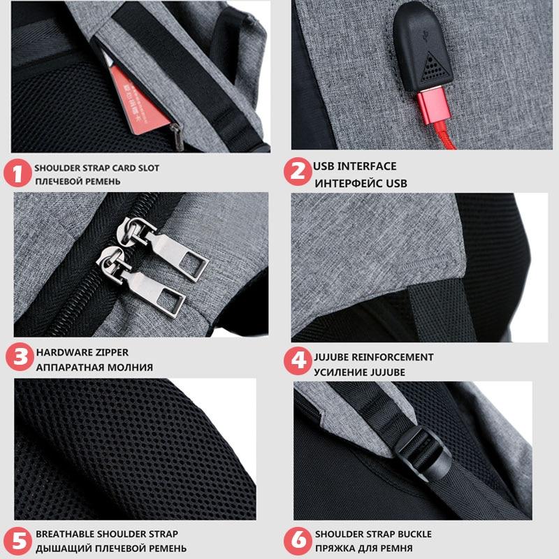 Bbirds Usb Charging Men 15 Inch Laptop Backpacks Waterproof Men's Business Bag Anti Theft Roubo Backpack Nylon School #6