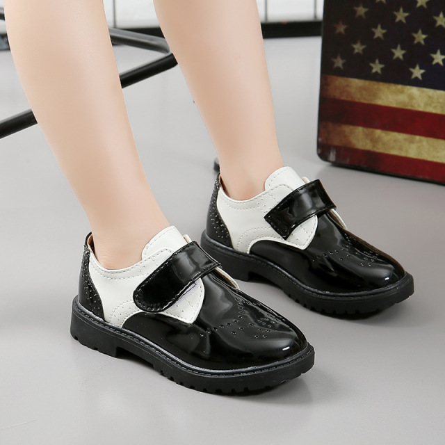 Children School Leather Shoes Boys Classic Wedding Girls Party Student Show Shoes for Kids Oxford Dress Banquet Shoe White Black