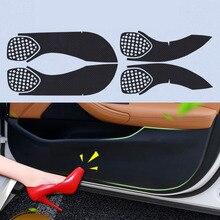 4pcs Car Door Side Edge Anti kick Protection Film Carbon Fiber Sticker For Buick VERANO все цены