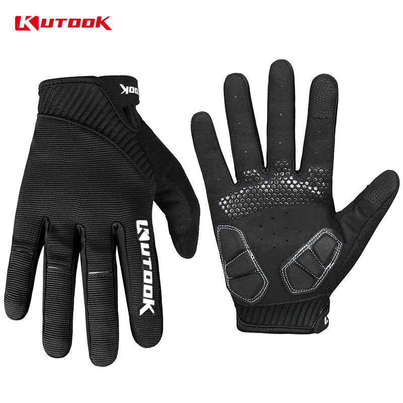 все цены на KUTOOK Breathable Cycling Full Finger Gloves MTB Anti-slip Touch Screen Bike Glove Shockproof Mountain Bike Gloves For men women