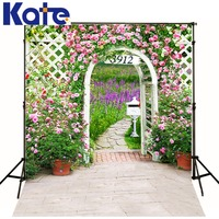 3M*2M(10*6.5 Ft) Kate Gorgeous Photography Backdrop Backyard Flower Arched Door Photography Backgrounds For Wedding Background