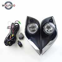 WOLFIGO 1 Set Clear Lens Fog Lights with Bezel Wiring Switch Relay 622576W80A NI1038134 for Nissan Versa Sunny 2015 2016 2017