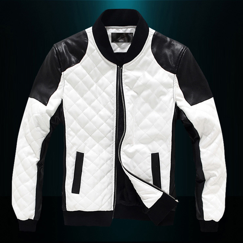 Compare Prices on White Leather Jacket Men- Online Shopping/Buy ...