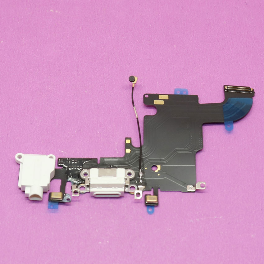 1x White New repair parts for iPhone 6S 4.7 charging port charger dock connector flex cable with Headphone Audio Jack