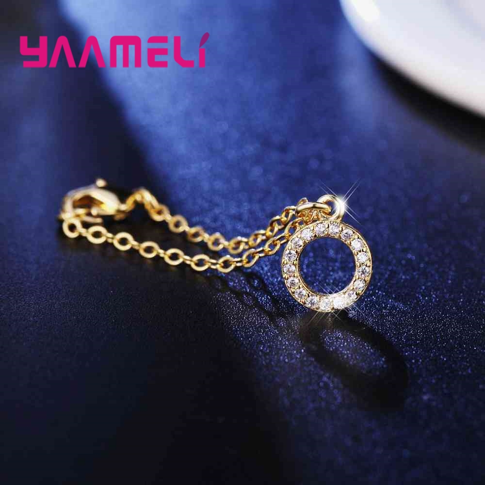 Various Shapes Pendant 18K Gold Colors Super Shining Cubic Zircon Crystal Jewelry For Women Ladies Watch Accessories