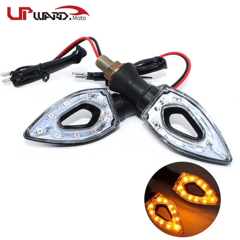For KAWASAKI Z650 Z750 Z800 Z900 Z1000 ZX6R ZX10R Versys 650 1000 Universal 10MM Motorcycle Turn Signal Indicators LED Blinkers
