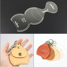 Key pendant  version pattern design female mold DIY handmade leather making template acrylic