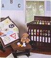 Промо-акция! 3 шт вышитые Cirb детские постельные принадлежности набор 100% хлопок детское постельное бельё, включает (бампер + пододеяльник + по...