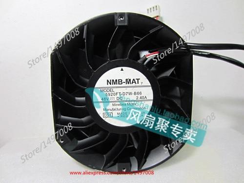 NMB-MAT 5920FT-D7W-B66, DS1 DC 48V 2.40A, 172x150x51mm Server Round fan nmb mat 5915pc 12t b30 a00 dc 115v 35a 2 piece 150x172x38mm server round fan