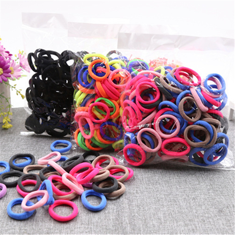 Hair Accessories For Girls Elastic Hairband Headwear Rubber Elasticity Holders Hair Rings Colorful 10/<font><b>20</b></font>/24/30/40/50/<font><b>100pcs</b></font> image