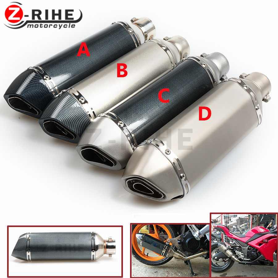 for Universal Motorcycle Exhaust Modified Muffler Pipe 36-51mm Slip-on Exhaust For Muffle Escape Moveable DB Killer for yamaha