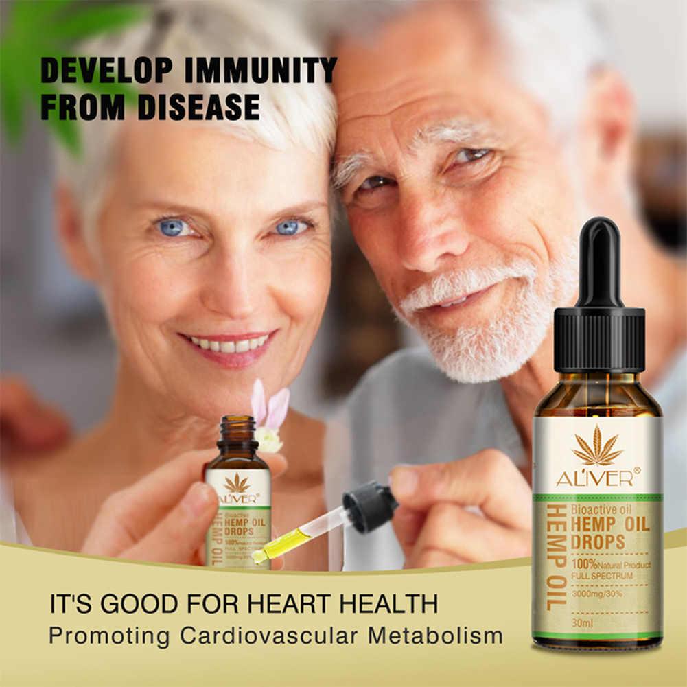 30ml Organic Hemp Seed Oil สมุนไพรลดความเครียด Sleep Aid นวดน้ำมันช่วยความดันโลหิต