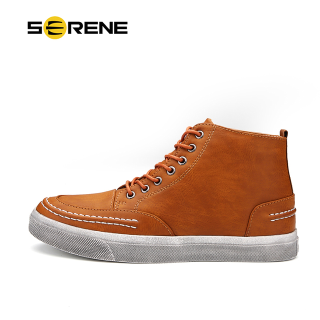 SERENE Spring&Autumn New Arrival Men Shoes Fashion Casual Leather Boots 3 Color Lace-up Boots Available Free Shipping J016