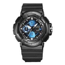 SANDA hombres Relogios Relojes de Moda Relojes Del Cuarzo Relogio Del Deporte Led Reloj Digital de Choque De Silicona Led Digital Reloj Ejército