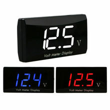 12V LED Digital Display Voltmeter Car Motorcycle Voltage Volt Gauge Panel Meter стоимость