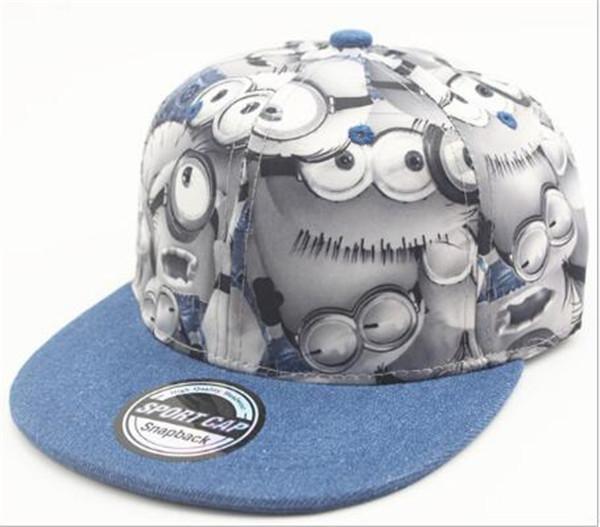 Adjustable Minions HipHop Cap for Kids