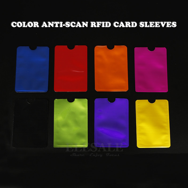 10Pcs Color Anti-Scan RFID Card Sleeves Credit Bank Card Anti-magnetic Protector Aluminum Foil Portable Bank Card Holder
