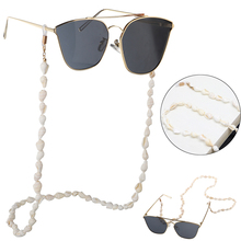 Hot Sunglasses Chain Holder Small Conch Shells Sunglasses Reading Glasses Chain Cord Eyewear Holder Neck Strap Rope Conch Chains conch shape embellished sweater chain
