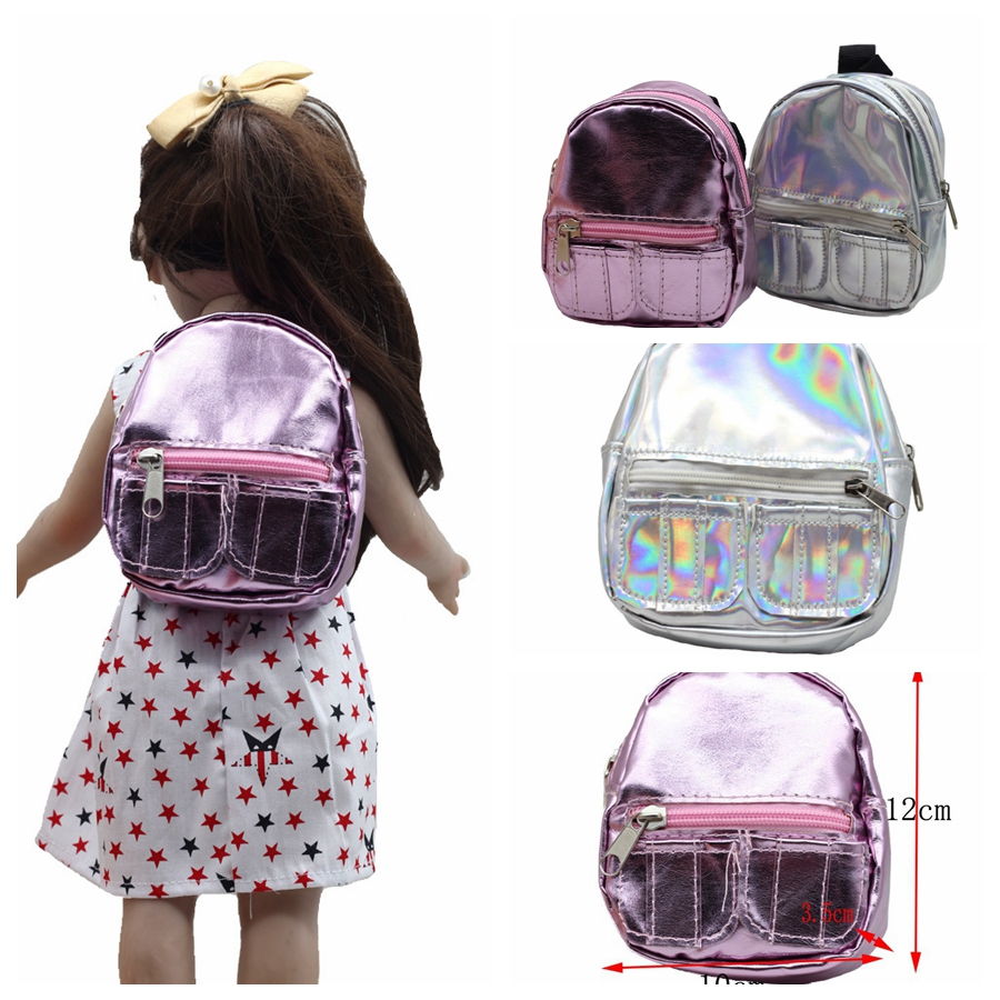 New Arrival 18inch Girl Doll Bag Toy For 43cm Baby Dolls Education Toy As For 1/3 Bjd Doll Mini Backpack Doll Accessories Superior Materials Dolls Accessories