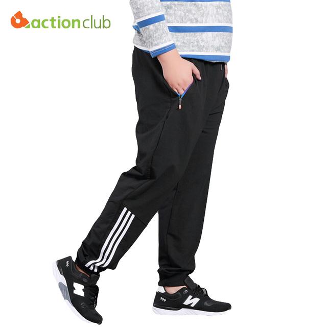 Actionclub plus size nueva ocasionales de los hombres pantalones elásticos pantalones masculinos pantalones de chándal holgados recta de calidad superior de los hombres chándal homme pantalon