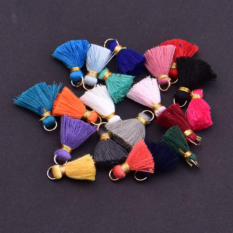 10pcs/lot 2cm Mini Cotton Tassels Small Tassels For Boho Jewelry Making Supplies Bracelet Necklace Findings&Components Material