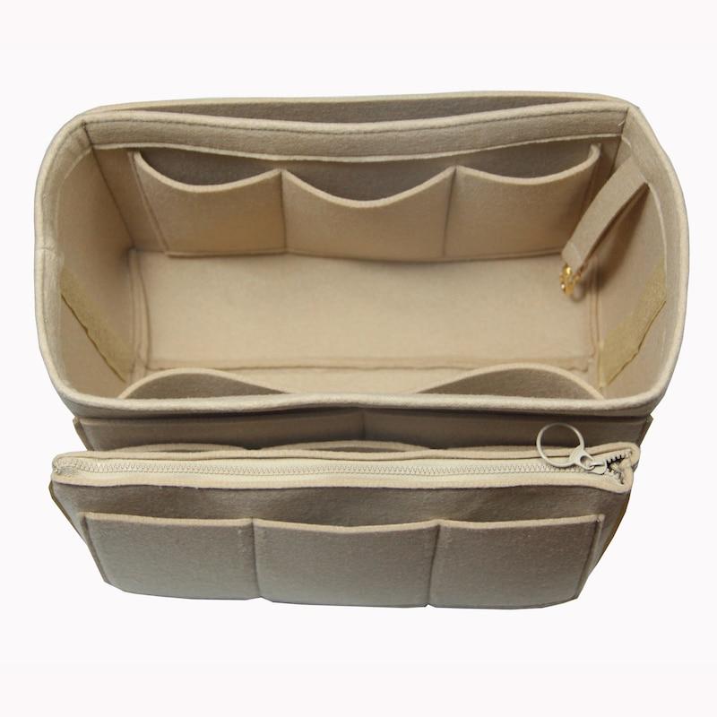 Customized Felt Organizer with Detachable Middle Zipper Bag Bag in Bag Wool  Purse Insert Diaper Tote Organize Neverfull Speedy - aliexpress.com -  imall.com 3c9644ef4617