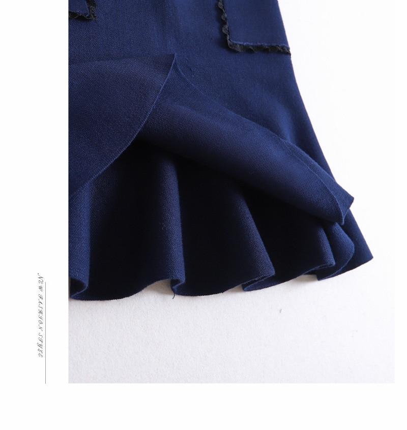 Marino Gtgyff Señoras Para Punto Saias Invierno Ol Azul Falda Blue Mujeres Ruffle Negro Negro Pez Saia De Faldas Otoño Las Cola navy ZOAwr8Zq