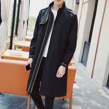 Trench Teenagers windbreaker man long handsome han edition coat thin coat age season students cloak B908 P78(China)