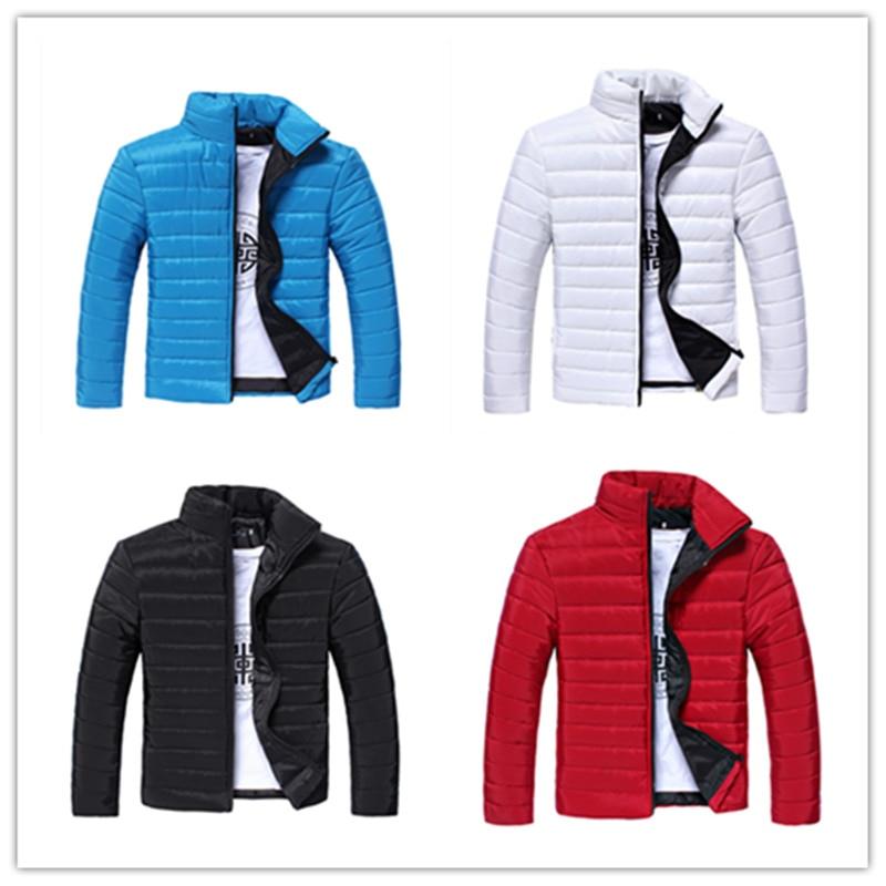 2019 Hot New Winter Jacket Men Slim Mens Long Sleeve   Parka   Famous Brand Mens Jacket Plus Size S - XXL Warm Man Pure Color Coat