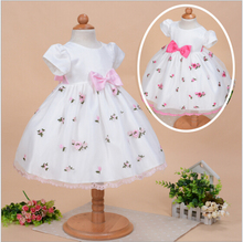 New Baby Girl Infant Christening Dress Baptism Gown Lace Satin 0 24month With Bow