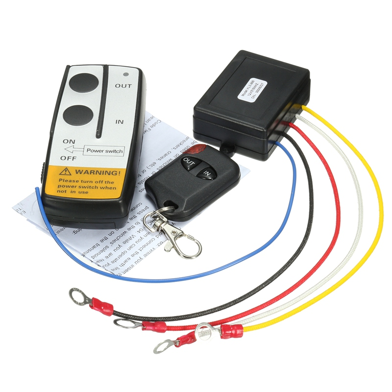 Winch Wireless Remote Control DC 12V Winch Wireless Remote Control Set for Jeep Truck ATV Winch 12V 50ft/15m