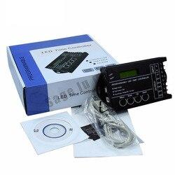 شحن مجاني الوقت برمجة RGB LED المراقب ديمر TC420 DC12V/24 فولت 5 قناة الناتج الإجمالي 20A المشتركة الأنود برمجة