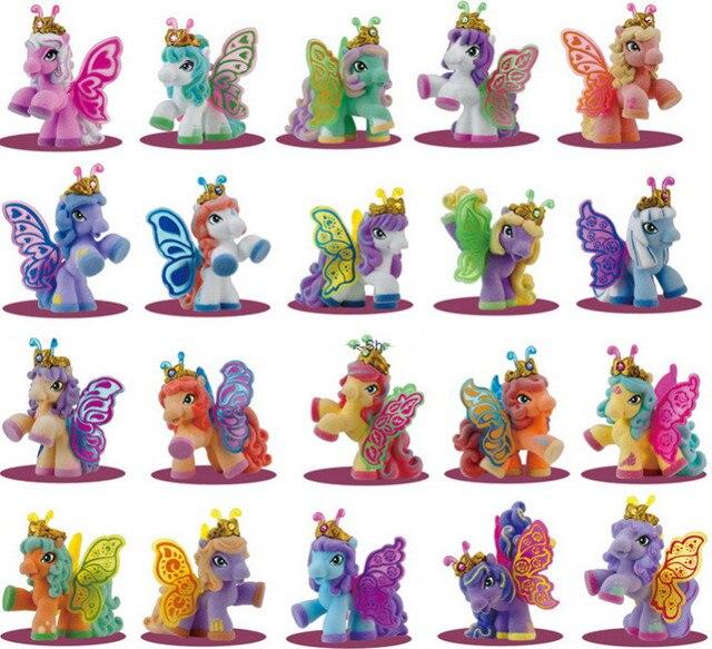 AILAIKI 20Pcs/lot 3CM Simba Filly Little Horse Dolls Witchy Unicorn Stars Butterfly etc. Toy Mini Horses Doll Kid Christmas Gift