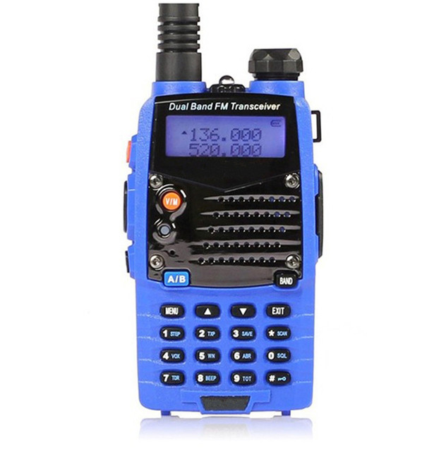 NEW 1 Set  Excellent Quality Blue Dual Handheld Transceiver Radio Walkie Talkie For Personal Safely Security