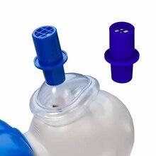 Практический клапан CPR с синим цветом и односторонним учебным клапаном для микромастики, упаковка из 10 учебно-спасательных масок CPR учебные клапаны