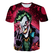 The Dark Knight 3D Printed T Shirt Men Joker Face Casual O-neck Male Summer Clown Short Sleeve Funny shirts Pokemon