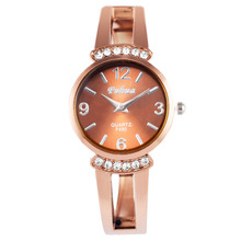 2016 New hot sell Fashion rose gold ladies Bangle Watch women quartz watches popular designer rhinestone watch relogio feminino