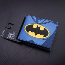 Comics Purse Famous Brand Men Wallets Anime Batman Animal Prints Clutch
