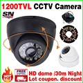 Read HD 1/4cmos 1200TVL Indoor Mini home Dome Camera 24leds IRcut Security Surveillance Infrared Night Vision 30m Color Video