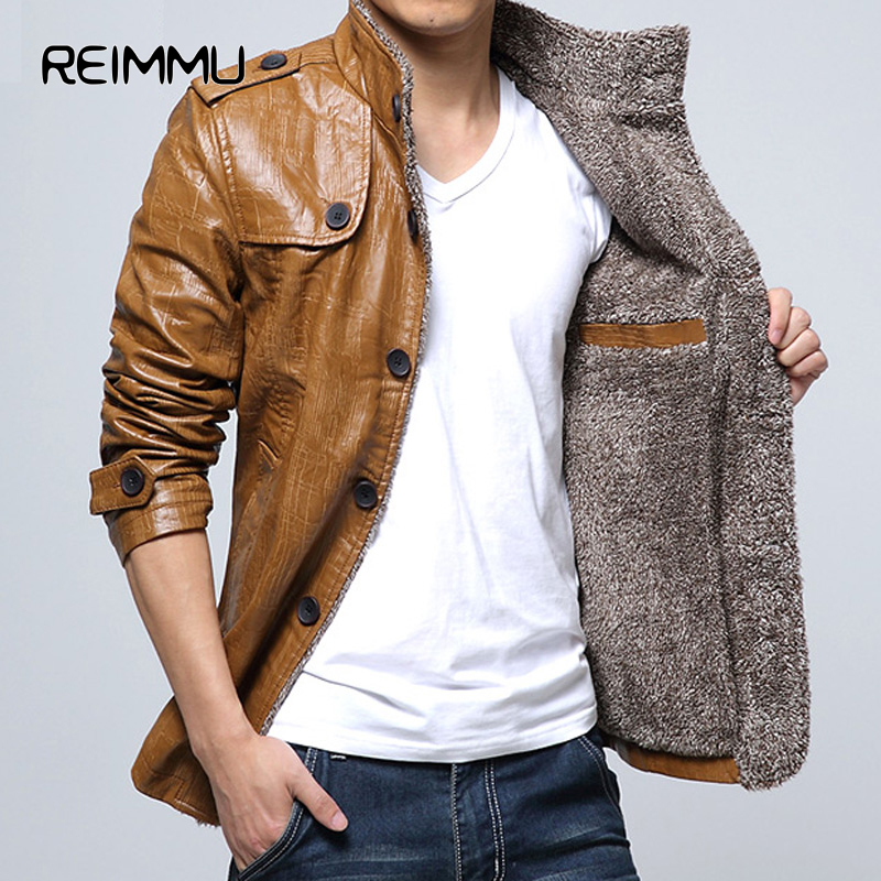 2016 New Arrival Mens Leather Jackets and Coats High Quality Oversized 5XL Fur Lined Leather Jackets Warm Leather Jackets China