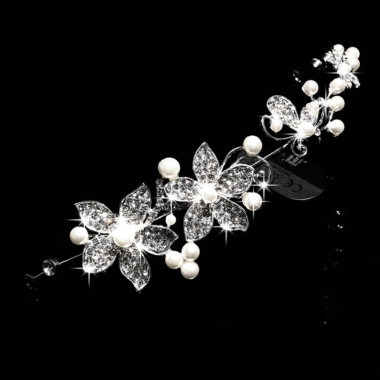 HTB1CquCPVXXXXbXXXXXq6xXFXXXo Luxury Silver/Gold Rhinestone Pearl Jewel Flower Hair Accessory For Women - 2 Colors