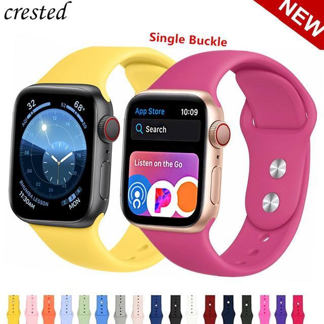 Band de silicona correa apple watch 42mm 38 mm Apple watch band 44mm 40mm iWatch 4 3 2 1 Suave Colorido deporte goma pulsera correas apple watch 42/44/40 38mm