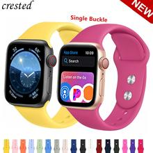 Silicone strap For Apple Watch band 38mm 42mm iwatch 4 Band 44mm/40mm Sport bracelet Rubber watchband for apple watch 4 3 2 1 недорого