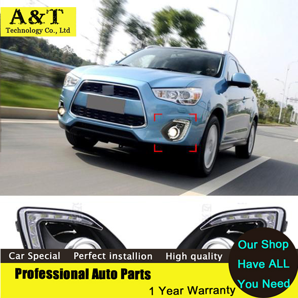 car styling Newest 9 LED Car Styling DRL For Mitsubishi ASX 2013 2014 Daytime running light With Dimmer Function решетка радиатора mitsubishi asx 2 шт 2010 2013