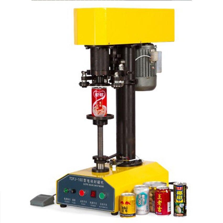 TDFJ 160 التلقائي الكهربائية يمكن السدادة القصدير السدادة 8.5 سنتيمتر/10 سنتيمتر الفم حجم يمكن ختم آلة ارتفاع 4  20 سنتيمتر 25 pcs/دقيقة 220 V/110 V-في مشابك الحقائب من المنزل والحديقة على  مجموعة 1